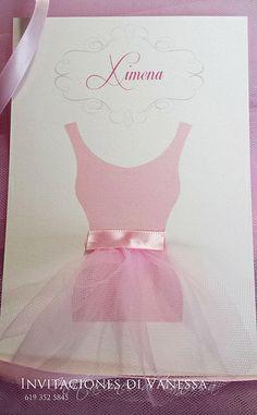 Tutu or Ballerina baby showe invitation