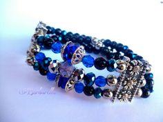 Pulsera con cristales azules by Barbarella