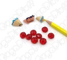 Rondella mezzo cristallo rosso 10 mm in vendita nel sito www.gugapluff.it