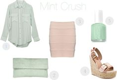 Mint and baby pink
