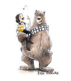 Frau Annika und Chewiebär. Star Wars. Illustration. www.frauannika.de