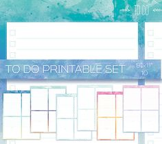 To Do List Set  Printable  Instant Download от NatThemes на Etsy