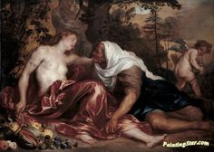 Vertumnus and pomona Artwork by Anthony van Dyck Hand-painted and Art Prints on canvas for sale,you can custom the size and frame