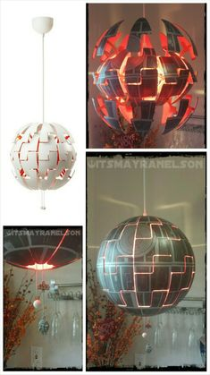 ✔ ikea lamp owned and geekyfied. Death Star Lamp