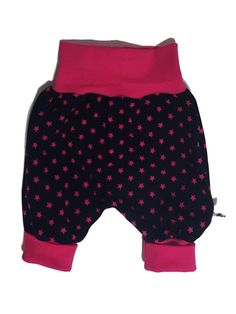 Baggy pants for preemie, newborn, baby and toddler.     Size 44 - 128 cm / preemie - 5 y    Soft cotton jersey. Dark purple with pink stars. Purple ribbing that match the pants. | Shop this product here: spree.to/atcb | Shop all of our products at http://spreesy.com/JewelsByScarlett    | Pinterest selling powered by Spreesy.com
