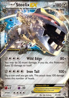 Steelix EX - XY - Steam Siege, Pokemon - Online Gaming Store for Cards, Miniatures, Singles, Packs & Booster Boxes Pokemon Tcg Cards, Pokemon Cards For Sale, Cool Pokemon Cards, Pokemon Trading Card, Pokemon Umbreon, Pikachu, Pokemon Go, Digimon Wallpaper, Cute Pokemon Wallpaper
