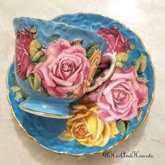 When you manifest it Not for sale Antique Tea Cups, Vintage Teacups, Vintage China, Hand Painted Dishes, China Tea Sets, Tea Service, Chocolate Pots, Sweet Tea, Tea Cup Saucer