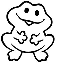 Frog Applique Pattern by on Etsy Frog Coloring Pages, Super Coloring Pages, Spring Coloring Pages, Coloring Pages To Print, Printable Coloring Pages, Coloring Pages For Kids, Coloring Books, Free Coloring, Stencils For Kids