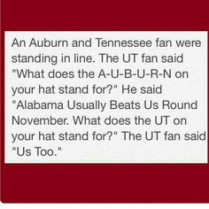To funny!!!! Roll Tide Roll Bama Fans!!!!