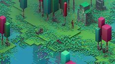https://www.behance.net/gallery/21826965/Isometric-Swamp