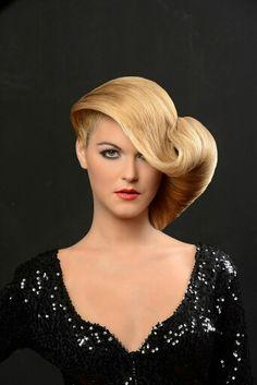 A gorgeous up do! Blonde Updo, Ballroom Hair, Evening Hairstyles, Bouffant Hair, Gorgeous Hair, Beautiful, Hair Flip, Shiny Hair, Vintage Hairstyles