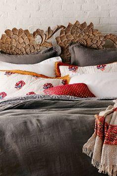 Soft-Washed Linen Duvet #anthrofave