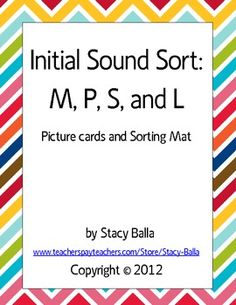 FREE - Initial Sound Word Sort with letters M, P, S, and L (Spanish)