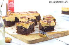 Brownie Marbré Chocolat, Caramel au Beurre Salé & Noix de Pécan - La Mère Poulard