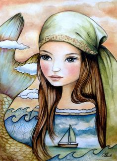 the oceans daughter by PrintIllustrations on Etsy, $20.00
