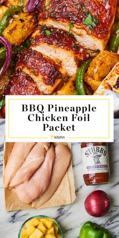 BBQ Pineapple Chicken Packets Are Smoky-Sweet Perfection Bbq Pineapple Chicken, Bbq Chicken, Chicken Recipes, Chipotle Chicken, Chicken Foil Packets, Foil Packet Dinners, Cooking On The Grill, Oven Cooking, Cooking Recipes