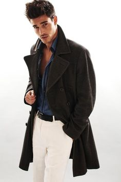 Great Look & Style. Gents Fashion, Best Mens Fashion, Look Fashion, Winter Fashion, Sharp Dressed Man, Well Dressed Men, Anthony Gastelier, Classy Men, Attractive Men