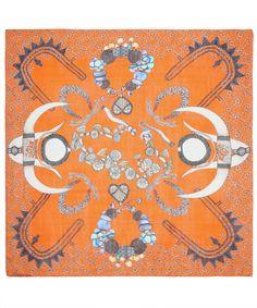 Orange Horn of Africa Print Scarf, Swash.