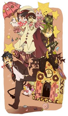 Blue Exorcist ~~ Mephisto's Candy Clock that he used to rein in Amaimon! YATTA!
