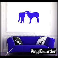 Sheep Wall Decal - Vinyl Decal - Car Decal - NS008