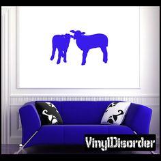 Sheep Wall Decal - Vinyl Decal - Car Decal - NS008