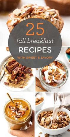 25 HEALTHY Fall Breakfast Recipes -- with sweet and savory options so there's something for everyone! Simply Quinoa 25 HEALTHY Fall Breakfast Recipes -- with sweet and savory options so there's something for everyone! Fall Breakfast, Quinoa Breakfast, Autumn Breakfast Recipes, Autumn Recipes Healthy, Breakfast Ideas, Christmas Breakfast, Breakfast Crockpot Recipes, Simply Recipes, Quick Recipes