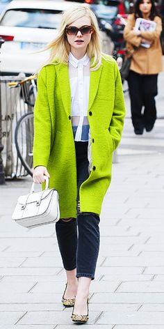 Look of the Day - March 6, 2014 - Elle Fanning #InStyle