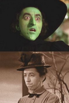 *WICKED WITCH of the WEST & MISS MYRA GULCH ~ (both parts played by: Margaret Hamilton) ~ The Wizard of OZ, 1939