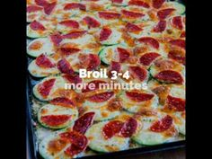 Kalyn's Kitchen®: Val's Kid-Friendly Broiled Zucchini with Mozzarella and Pepperoni