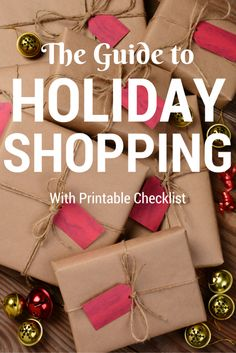Overwhelmed with all your holiday shopping? Check out my step by step guide to holiday shopping, and download your personal shopping checklist to make sure you get ALL your gifts and stay within your budget. #Christmas #Shopping