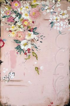 Buy Summer's Pink Perfume on acrylic and mixed media on frescoed panel by Kathe Fraga. Kathe Fraga is from Bainbridge Island, WA and is represented by 530 Burns Gallery, Sorrel Sky Art & Design Art Floral, Vintage Floral, French Wallpaper, Fabric Wallpaper, French Paintings, Pink Perfume, Sky Art, Chinoiserie, Art Images