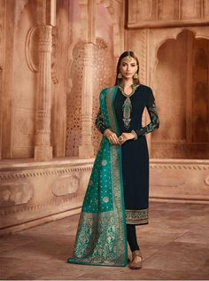 AARYAVI BY GLOSSY 12080 TO 12087  DESIGNER FESTIVE SUITS COLLECTION BEAUTIFUL STYLISH FANCY COLORFUL PARTY WEAR & OCCASIONAL WEAR PURE GEORGETTE WITH EMBROIDERY DRESSES