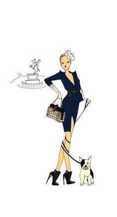 fashion illustration by quenalbertini - Angéline Mélin illustration-via doitinparis...