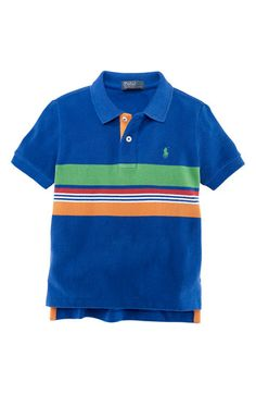 Ralph Lauren Stripe Polo (Toddler) available at #Nordstrom