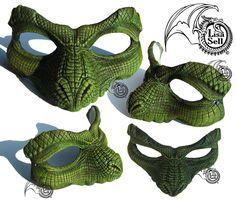 Peter Pan crocodile mask by Lisa Sell on Etsy