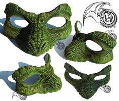 Peter Pan crocodile mask by Lisa Sell on Etsy