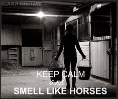 Oh yeah! There's nothing like the smell of horse sweat and leather! If they could bottle it, I'd wear it every day!! :)