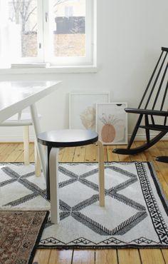 Varpunen-blogi, Susanna Venton Anno-mallistoon suunnittelema Jalpaikka-matto. Kodin1-valikoimassa alkusyksystä 2014.