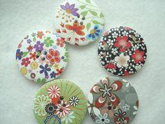 40mm Wooden Button Mixed Pattern Big Statement by berrynicecrafts, £1.50