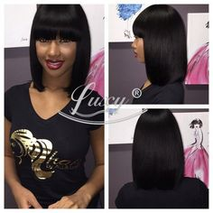 Find More Wigs Information about TOP Full lace human hair bob wigs short glueless bob Virgin Brazilian wig short lace front wigs for black women 130% baby hair,High Quality wig purple,China wig photography Suppliers, Cheap wig bang from Luxy Hair Product Co.,Ltd on Aliexpress.com. Pinterest: ♚ @RoyaltyCalme †