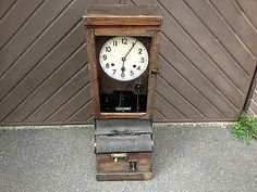 antique/vintage national clocking in clock