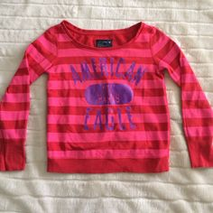 American Eagle Sweatshirt Pink and Red Sweatshirt American Eagle Outfitters Tops Sweatshirts & Hoodies