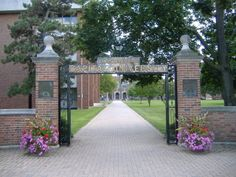 Capital University - I drove my Chevette, PJ, through the front gates on Pledge Day...oops!