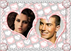 Fotoefectos San Valentín para dos fotos.