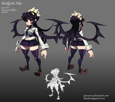 Skullgirls: Filia by Pyroxene on deviantART