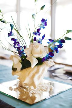 beach wedding centerpieces pictures - Google Search