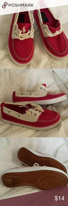RALPH LAUREN POLO SNEAKERS Very cute, excellent condition, canvas upper. Ralph Lauren Shoes Sneakers