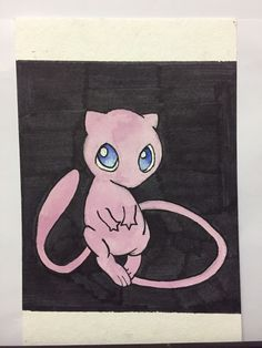 A personal favorite from my Etsy shop https://www.etsy.com/listing/260180634/mew-watercolor