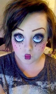 creepy doll face makeup for halloween or costume partythe betty boop look