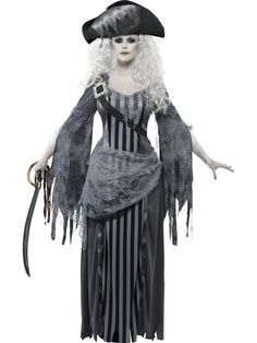 Halloween Costumes Women - Smiffy's Women's Ghost Ship Princess Costume, Dress and Hat, Ghost Ship, Halloween, Size 22970 >>> Visit the image link more details. (This is an affiliate link) Zombie Pirate Costume, Halloween Costumes For Sale, Female Pirate Costume, Hallowen Costume, Halloween Kostüm, Costumes For Women, Pirate Costumes, Cosplay Costumes, Witch Costumes